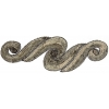 Motif Sequin/beads 29.5x9.5cm Scroll Bronze with matching Stone